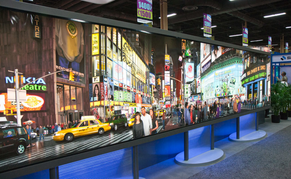 Burt Monroy Time Square Print at ISA Epson Booth