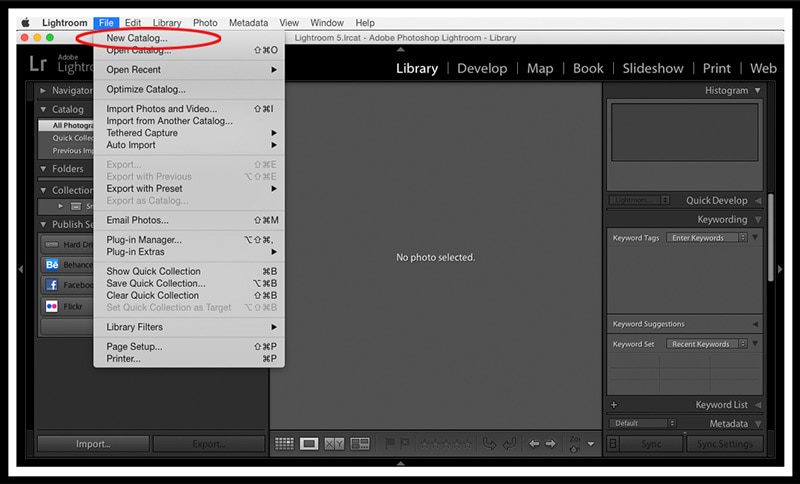 Open Lightroom Catalog